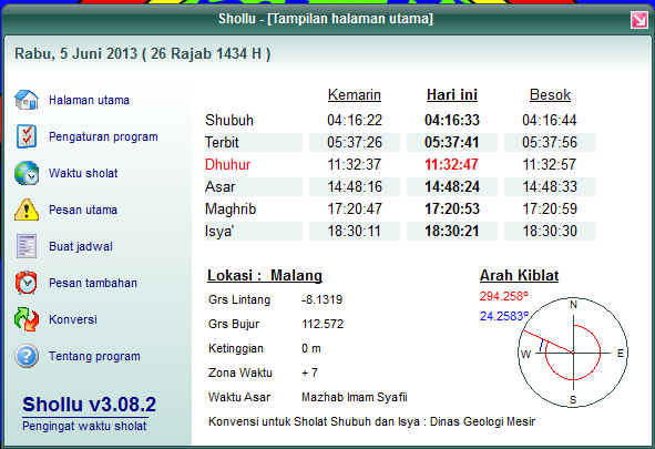 download aplikasi program pengingat waktu sholat