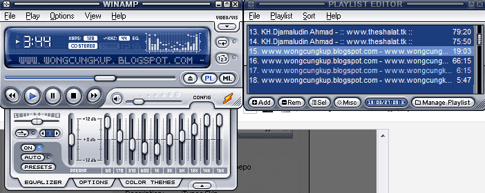 aplikasi pemutar audio video terpopuler bag 1winamp
